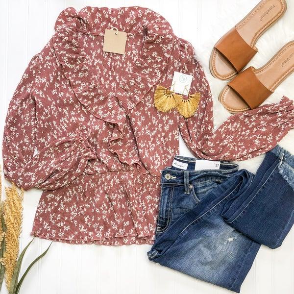 Sweetly Ruffle Blouse - 2 colors