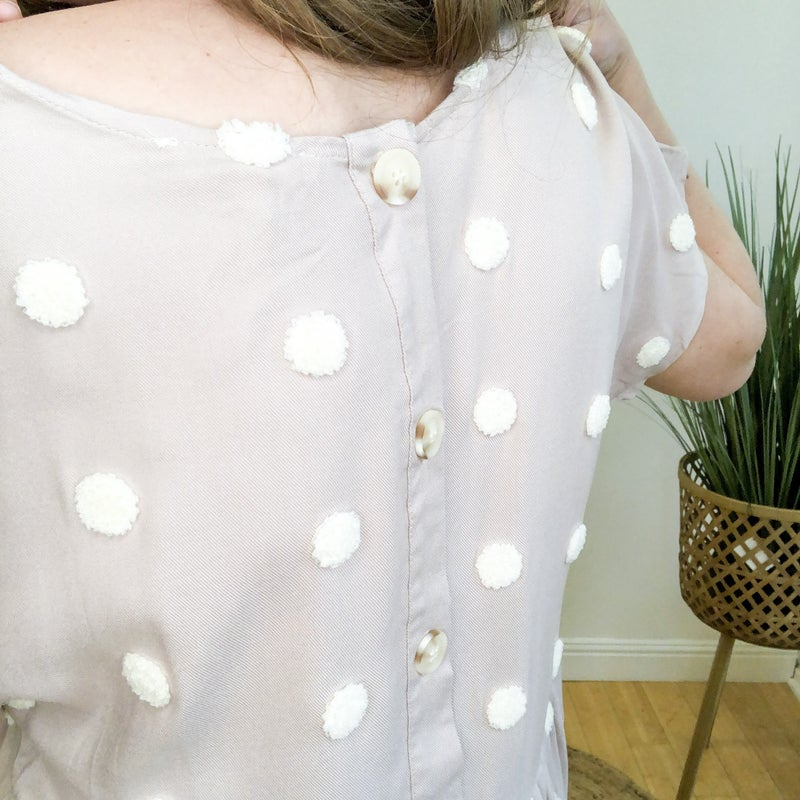 Lovely Puff Dot Top - 2 colors