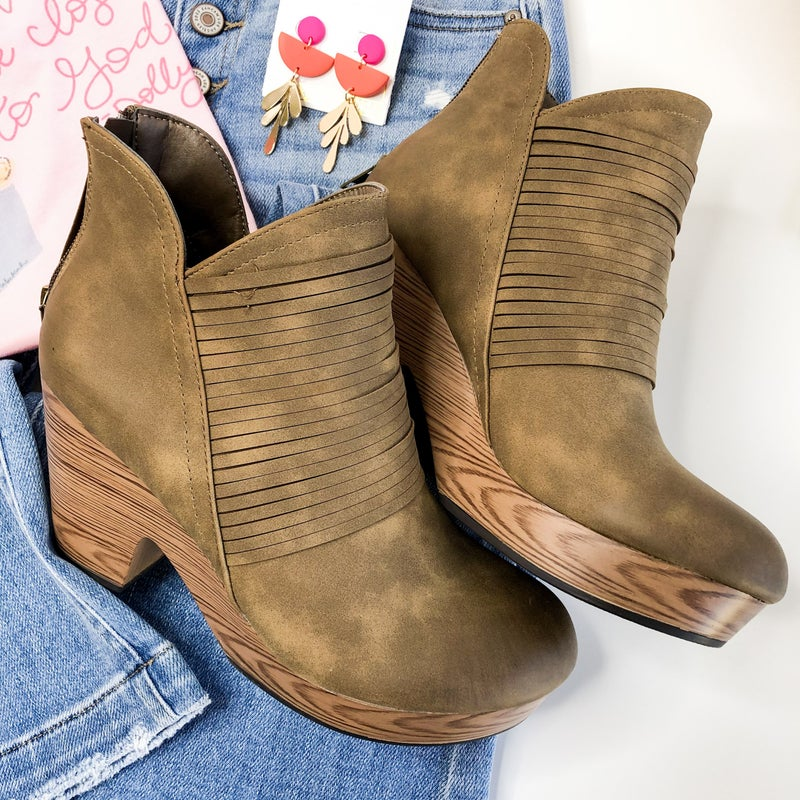Haley Taupe Bootie