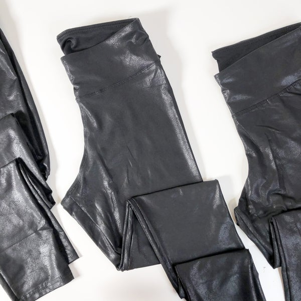 Faux Chinz Leather Leggings