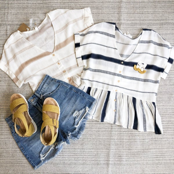 Casual Stripes Top - 2 colors