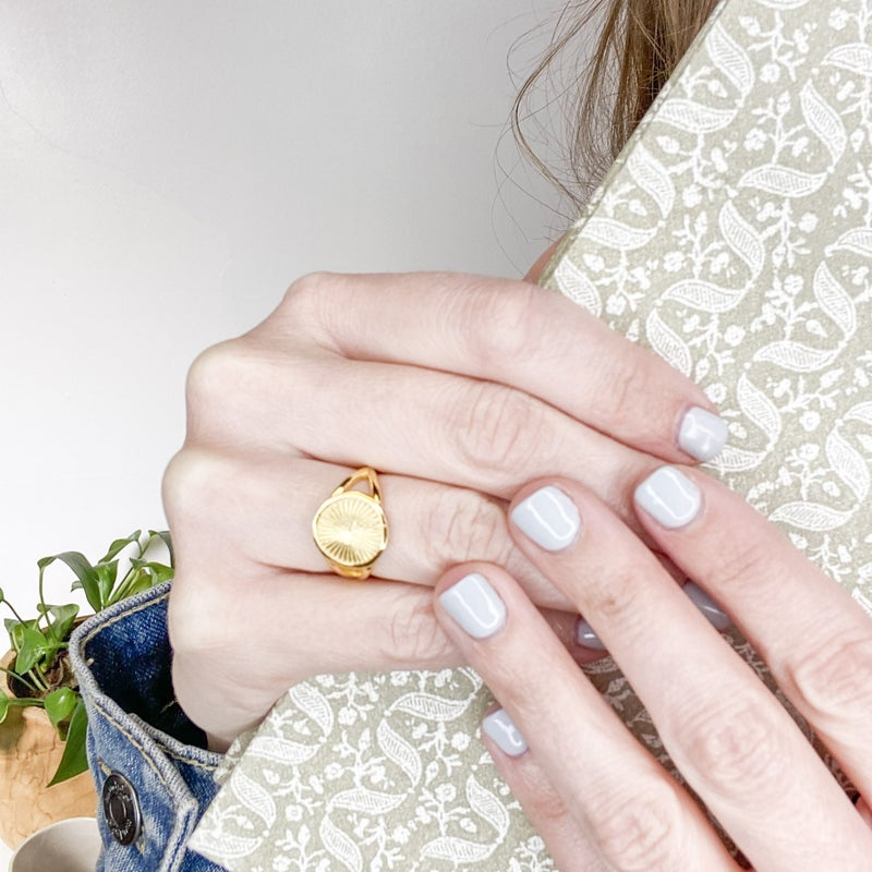 Simple Gold Ring - 2 designs