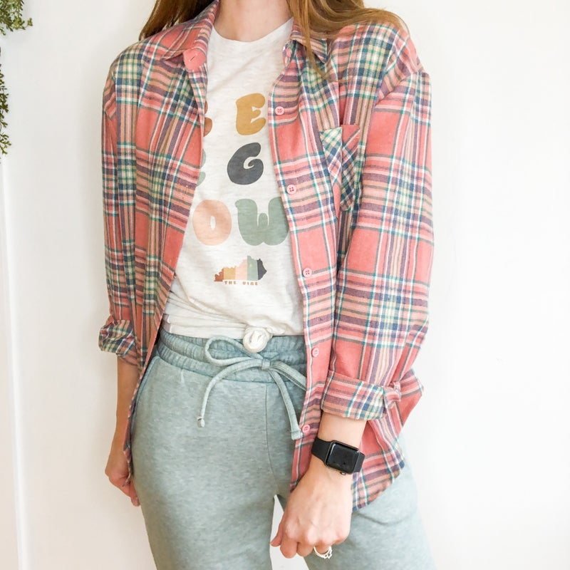 Classic Check Button Up -2 colors