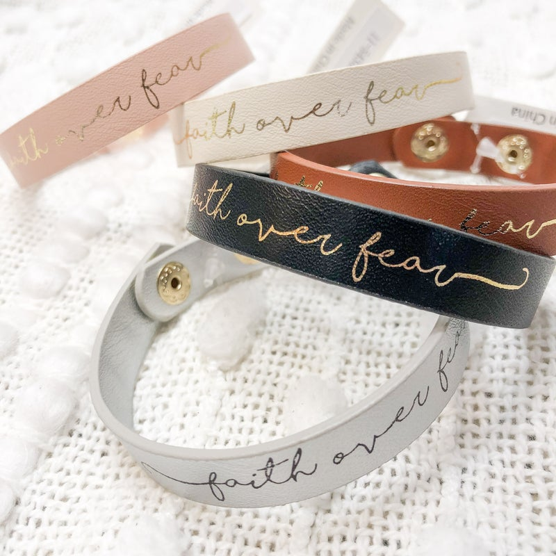 Faith Over Fear Bracelet -5 colors