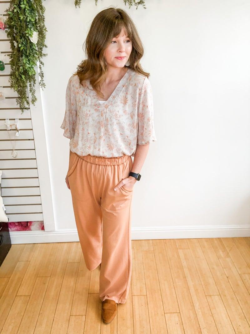 Pretty in Peach Pants