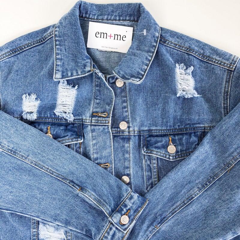 Tatum Boyfriend Denim Jacket + -2 colors