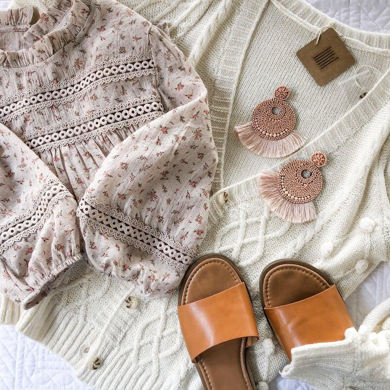 Cream Detail Cardigan
