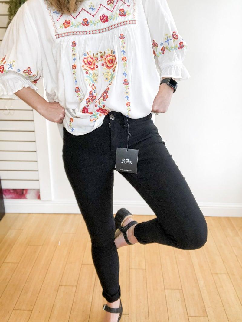 Hyperstretch Skinny Jean in Black +