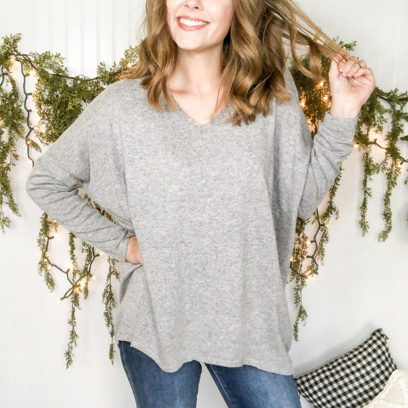 Comfy V-neck Tunic  - 2 colors