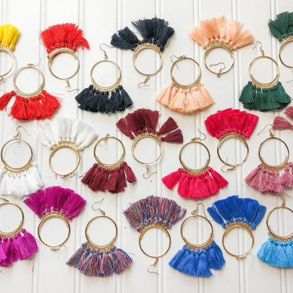 Tassel Earrings- 14 colors