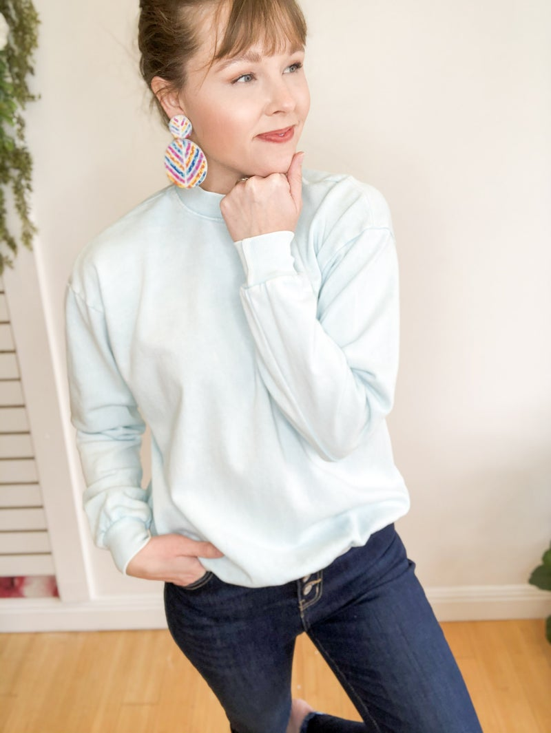 Vintage Washed Sweatshirt  -2 colors
