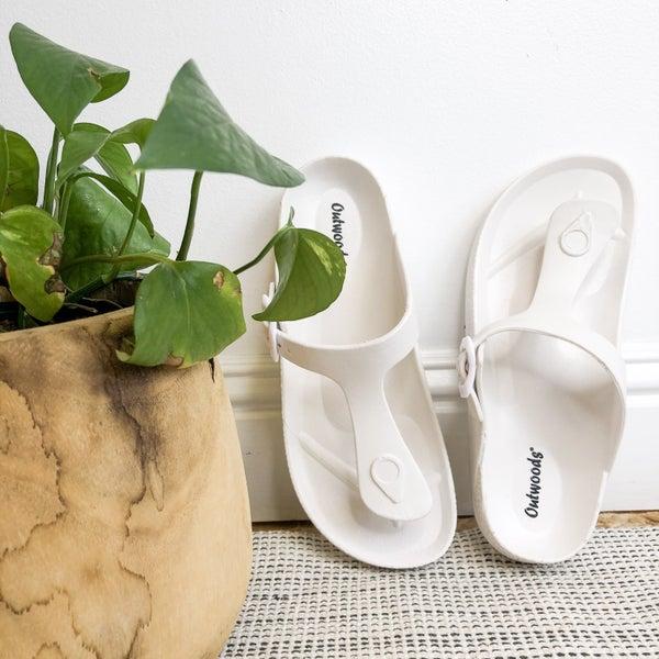 White Birk Sandal