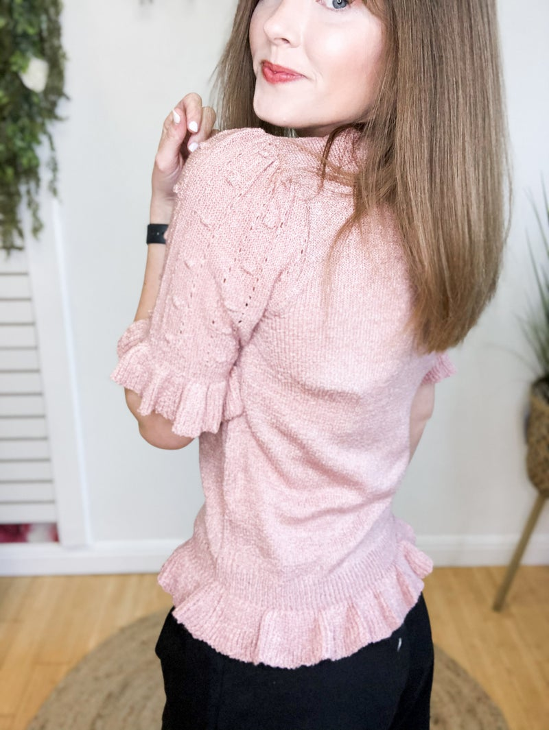 Adorable Mauve Sweater