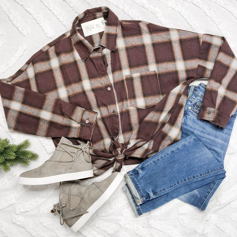 Fave Brown Flannel *Final Sale*