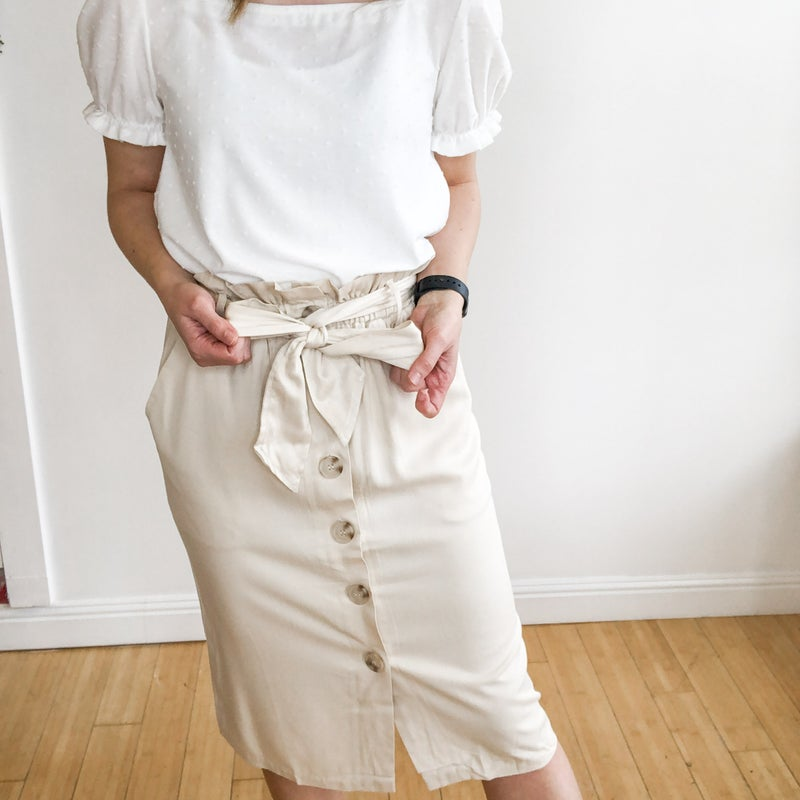 Paperbag Skirt in khaki