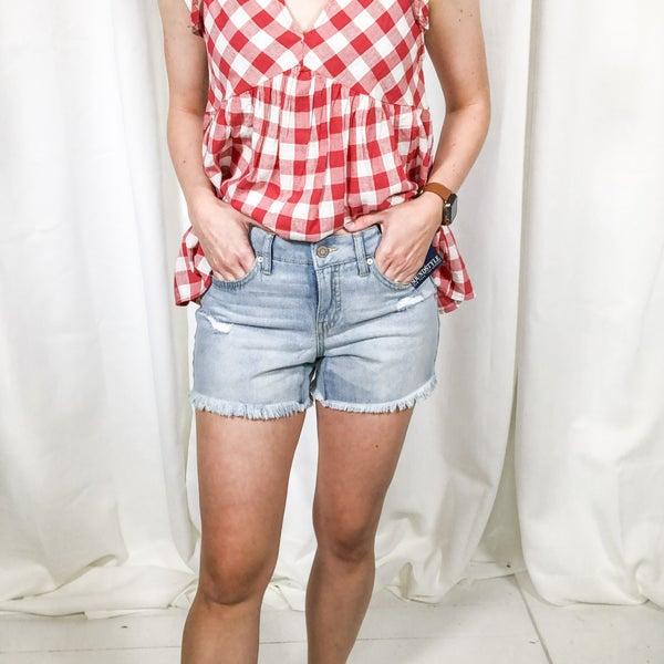 Jamie Frayed Shorts - light