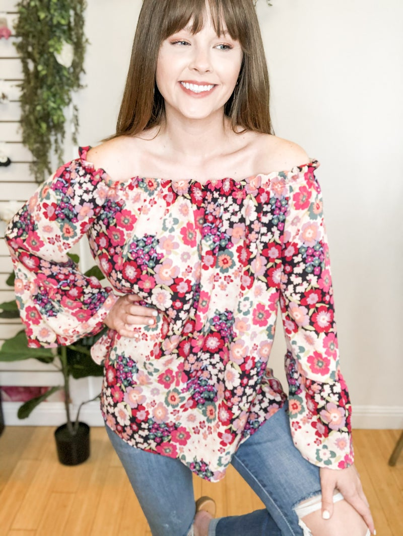 Summer Nights Pink Floral Top