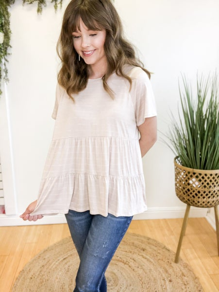 Simple Stripes Tiered Top  +  2 colors