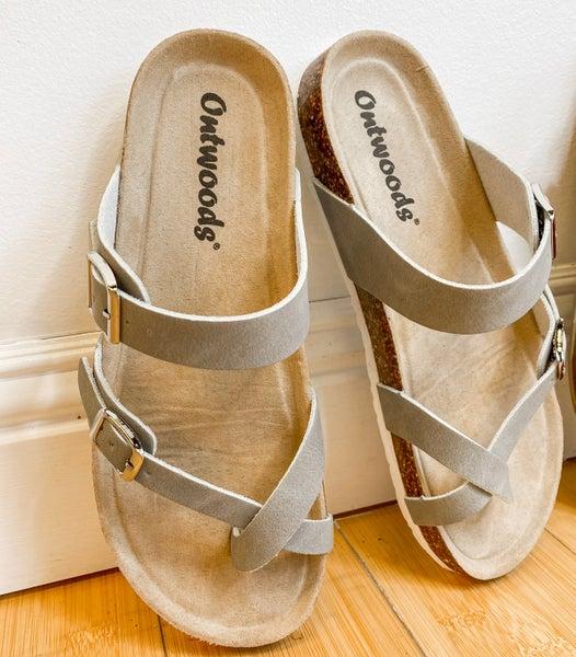 Gray Skies Birk Sandal