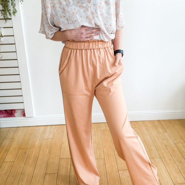 Pretty in Peach Pants