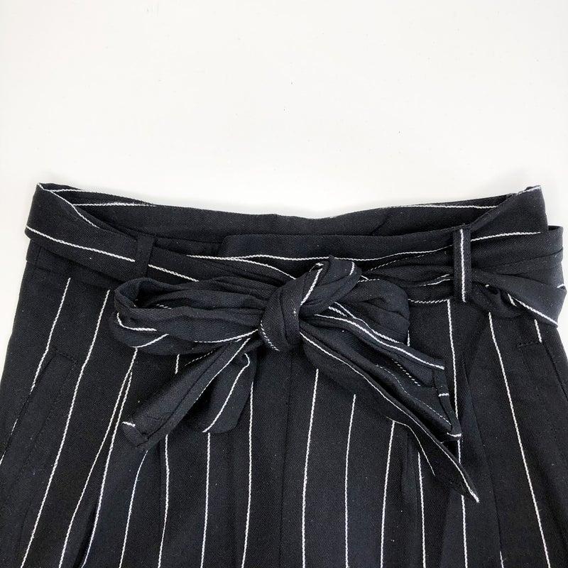 Black Pinstripe Pants