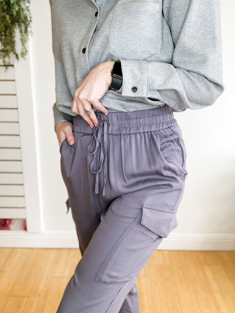 Jessica Grey Pocket Pants