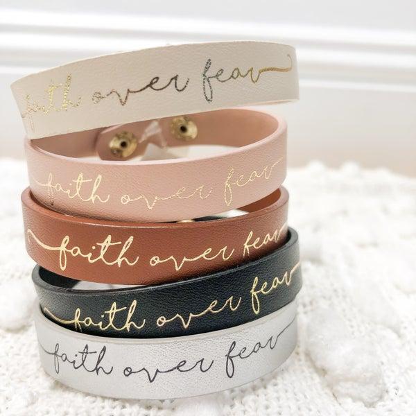 Faith Over Fear Bracelet -5 colors