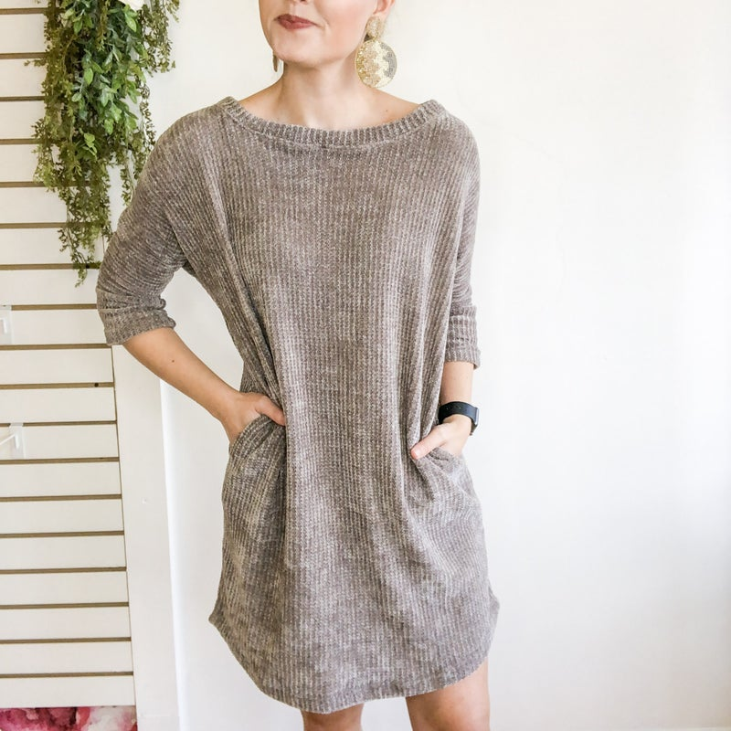 Darling Chenille Dress  -2 colors