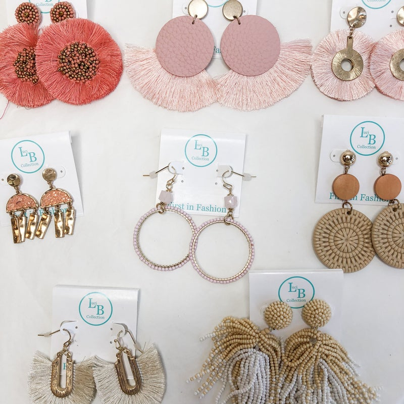 Pink Neutrals Earring Collection