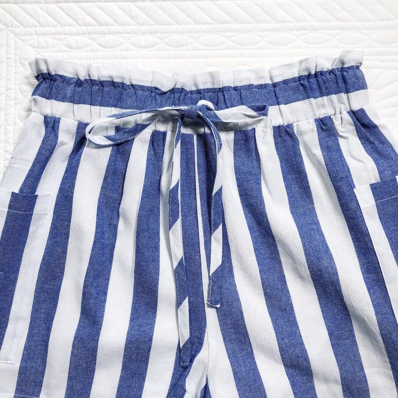 Blue Stripe Short