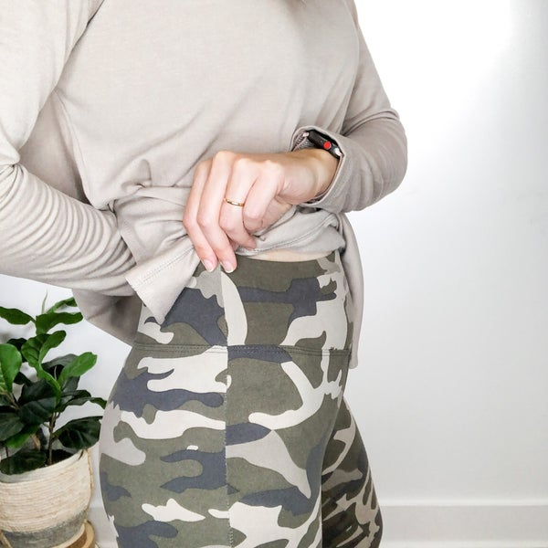 Muted Oatmeal Camo Leggings