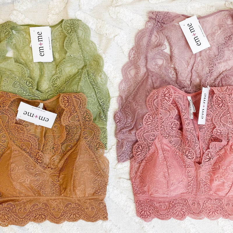 Bralette - 4 colors +