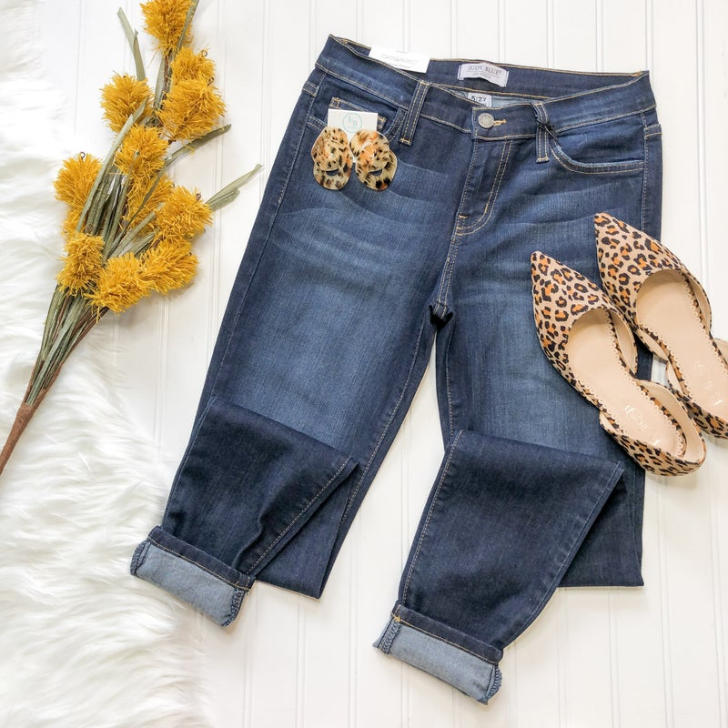Judy Blue Mid Rise Jeans +