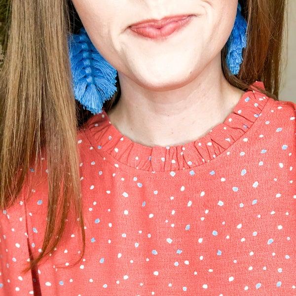 Pops of Color Fringe Earrings - 3 colors