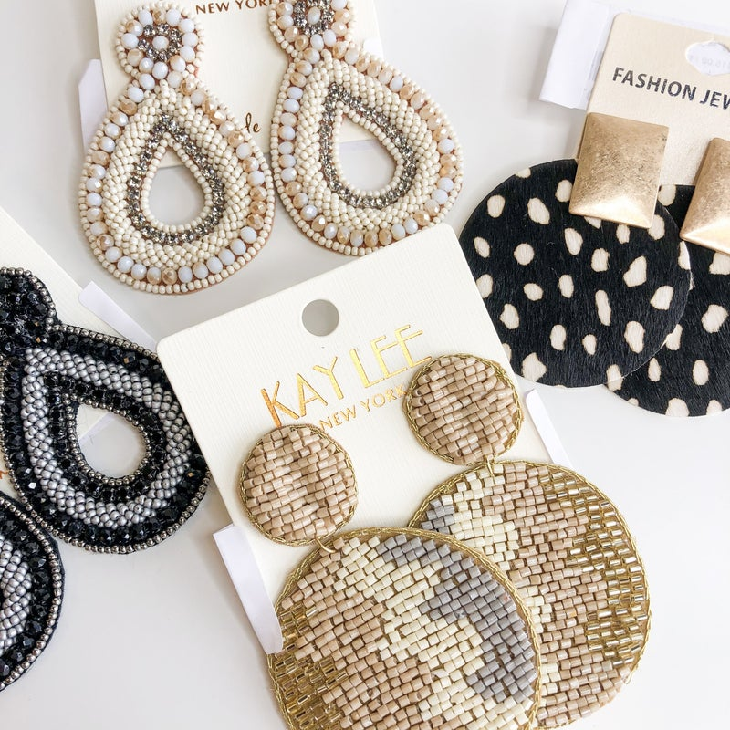 Stunning Neutral Earring Collection  -4 designs