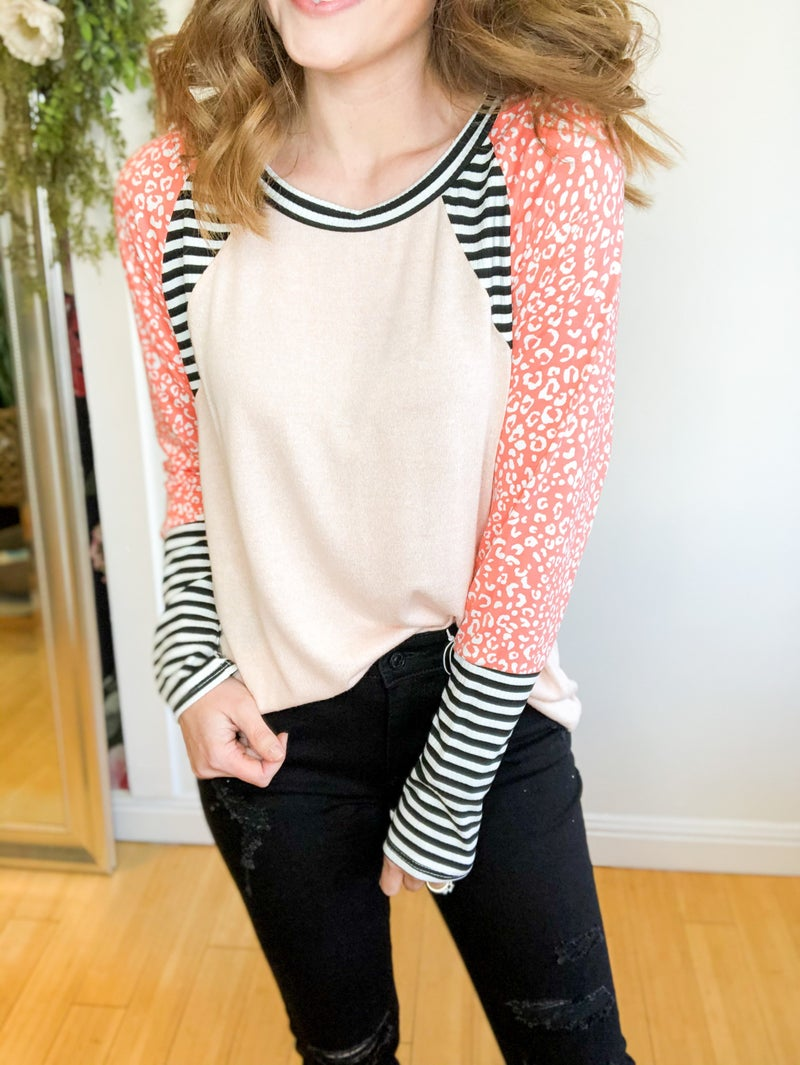 Coral Cutie with Stripes +