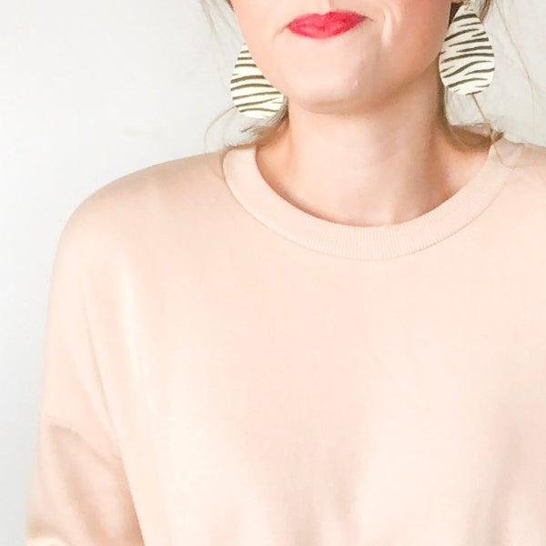 Teardrop Animal Print Earrings - 3 colors