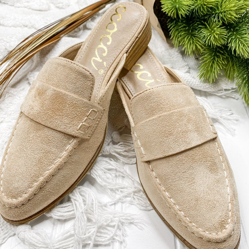Emory Taupe Suede Slide