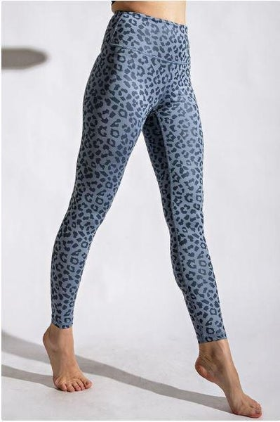 Chambray Leopard Chintz Leggings (ONLINE ONLY)*
