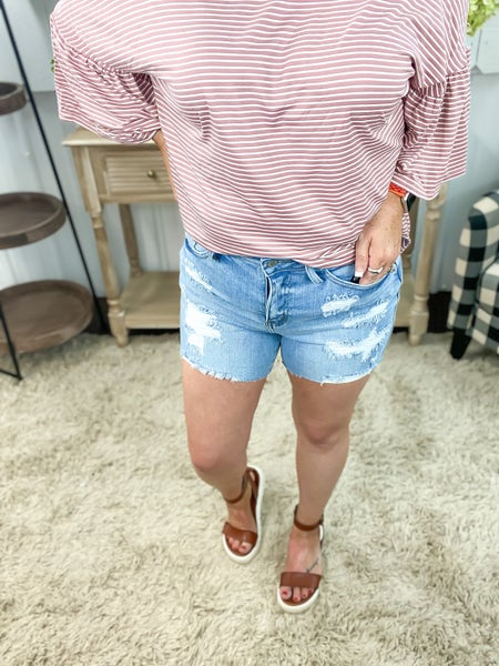 Judy Blue Light High Waist Shorts - JB150058