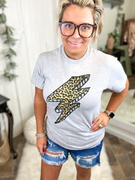 Leopard Lightning Bolt T-Shirt {ONLINE ONLY}*