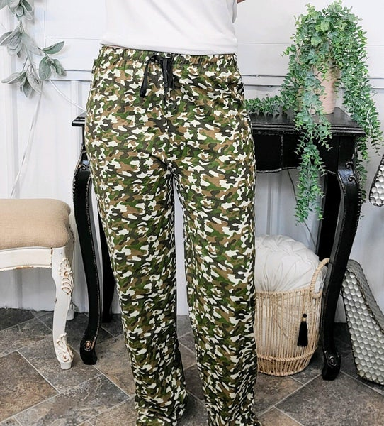 Olive & Brown Camo Lounge Pants (ONLINE ONLY)*