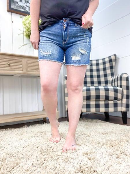 Judy Blue Bleach Splash Shorts - JB15202