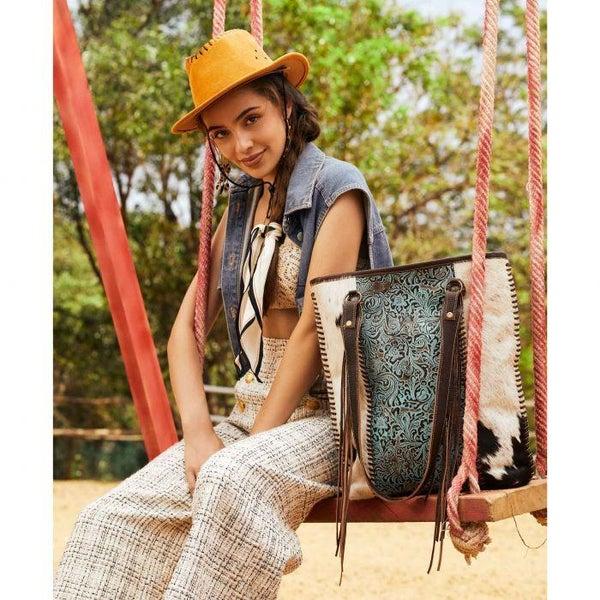 Myra Blue Ripples Handbag