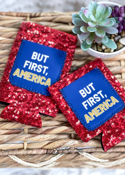 But First, America Sequin Can Cooler