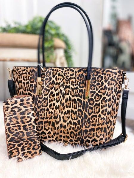 Leopard Tote & Wallet (ONLINE ONLY)*