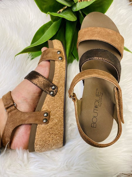 Corkys Cona Wedge - Brown