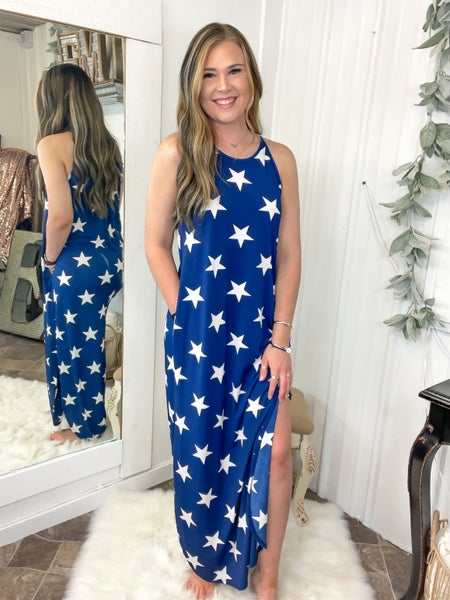 Navy & Stars Maxi Dress (ONLINE ONLY)*