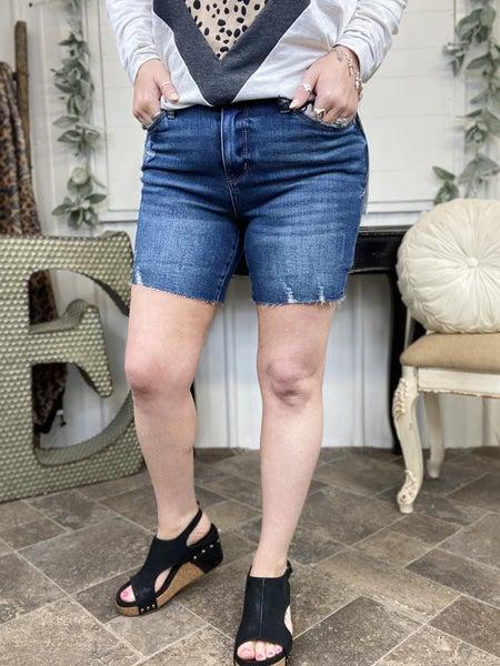Judy Blue Raw Hem Shorts JB150051