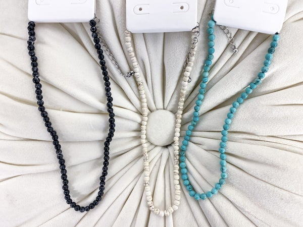 Natural Stone Beaded Necklace*